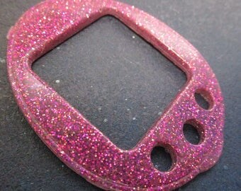 Pink and Fuchsia Glitter Star Tamagotchi 4U & 4U+ Plus Face Plate Cover