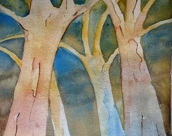 Aquarell Bäume
