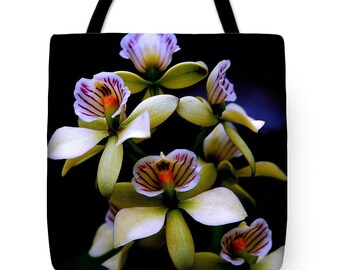 Orchid Tote Bag, Orchid, Tote Bag, Beach Bag, Shoulder Bag, Carryall Bag, Bag, Tote, Flower Bag, Flower Tote Bag, Orchid Bag
