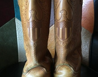 1970's Western Eagle Biker Cowboy Boots