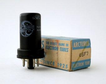 Arcturus 6SF7 metal vacuum tube - new old stock - original box