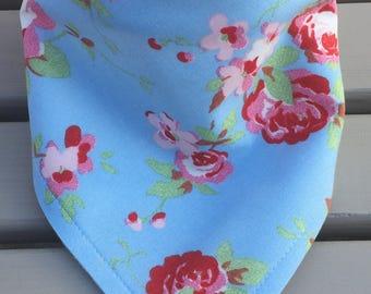 Handmade Bandana Dribble Bib - Cath Kidston Rosali fabric - gorgeous !