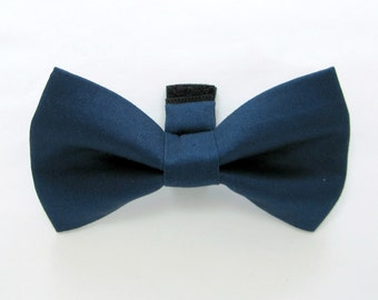 Navy Dog Bow Tie /Wedding Dog Bow/Navy dog bowtie
