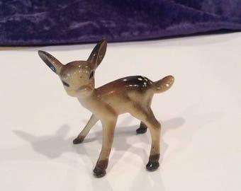 Miniature plastic Deer, Fawn , Bambi, Collectibles, Animal, woodland, Craft Supplies