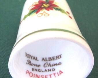 Royal Albert  FLOWER OF MONTH   4 Thimbles Scarce