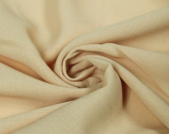 Tan 59'' Solid Linen Look Light-Weight Poly Fabric by the Yard - Style 688