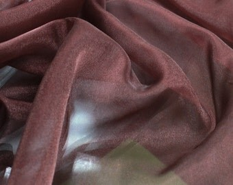 Burgundy 44'' High Quality Twinkle Crepon Organza Fabric Japan High Quality Organza Fabric by the Yard - Style 1904
