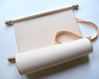 rustic blank scroll wedding vows scroll blank scroll for, Powerpoint templates