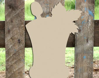 Mint Julep, Unfinished Wooden Shape, Paintable Wooden Craft
