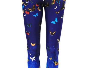 Butterfly Custom Jungle Print Yoga Leggings