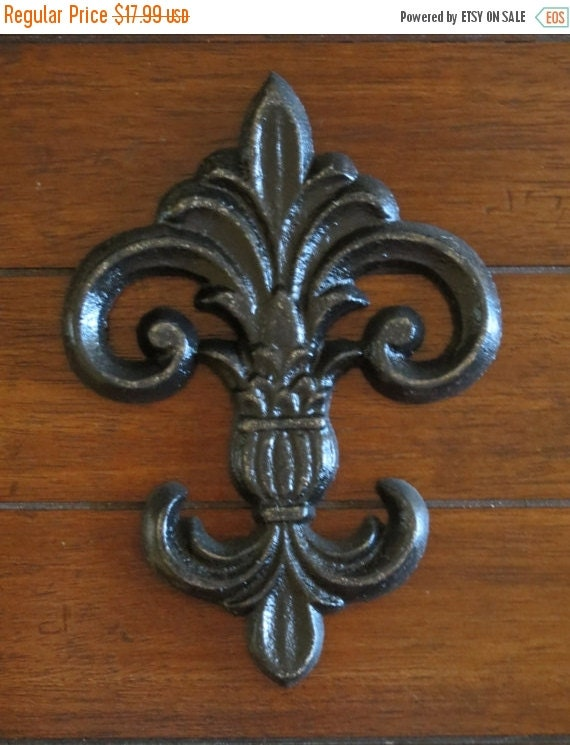 On Sale Today Cast Iron Fleur De Lis Wall Decor By
