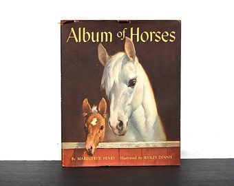 Album of Horses by Marguerite Henry - Vintage Horse Book - Horse Decor - Horse Lover Gift - Horse Art - Collectible Horse Book - Horse Gift