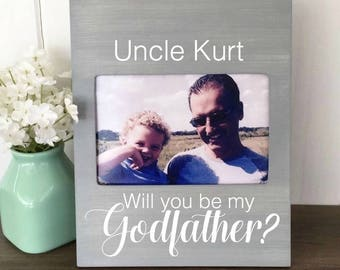 godfather picture frame will you be my godfather godfather gift godfather frame new uncle gift godparent gift will you be my godfather