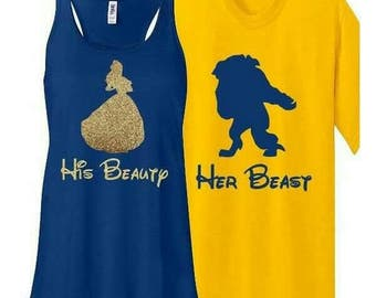 Personalized Disney Beauty and the Beast shirt