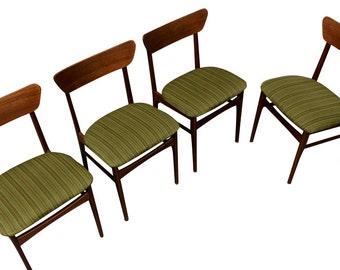 Randers Teak Dining Chairs MCM Danish Mid Century Modern