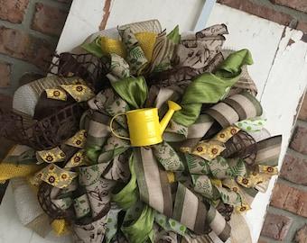 Spring Garden Themed Wreath