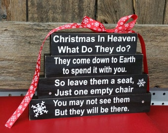 Christmas In Heaven What Do They Do Block Sign Christmas Gift Heaven Gift Loss Sign Heaven With Chair Heaven Sign Blocks