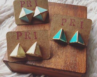 Take me to the Pyramids Triangle Earrings