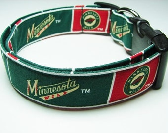 Minnesota Wild Hockey Dog Collar