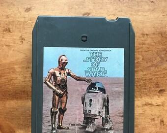 Original / Vintage The Story of Star Wars Original Cast Narration - 8 Track Tape Cartridge 1977