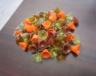 Vintage Celluloid Bells Necklace