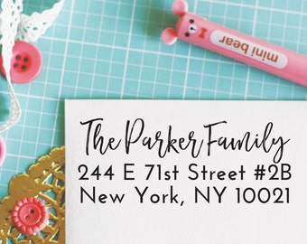 Custom Personalized Address Stamp - PARKER Style