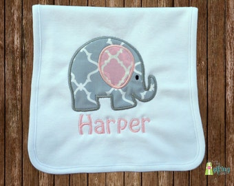 Monogrammed Burp Cloth, Personalized Baby Girl Burp Cloth, Appliqué Burp Cloth, Baby Gift, Baby Name Burp Cloth, Baby Shower Gift