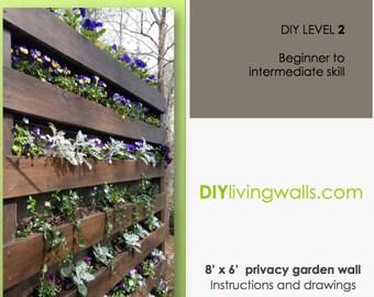 8' x 6' Vertical Garden Wall DIY instructions