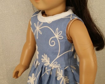 American girl doll blue dress