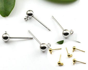 Bulk Lot 100pcs of 4x15mm Round French Earring Post Wholesale Antique Bronze Jewelry Findings