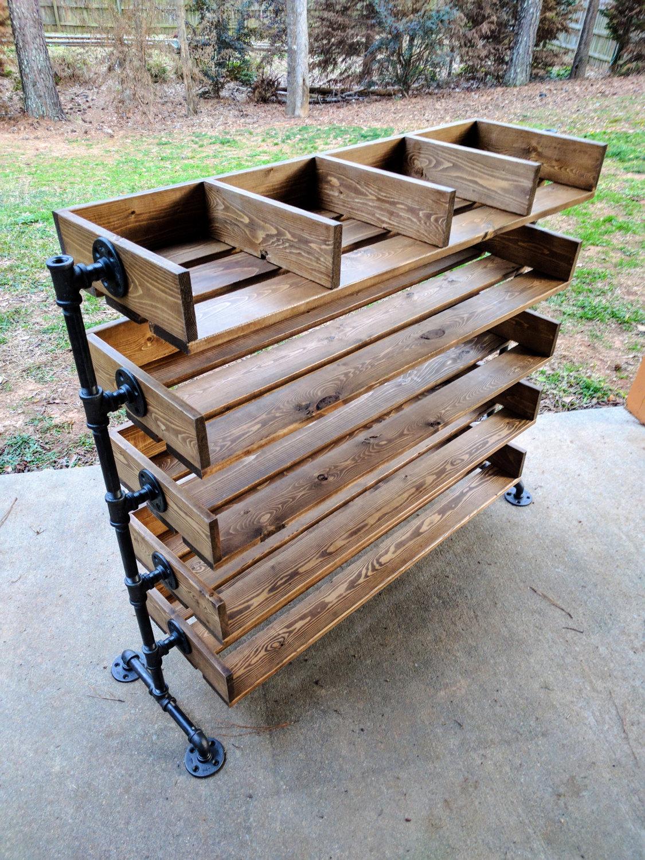 Handmade Reclaimed Cubbies Wood Shoe Stand / Rack / Organizer