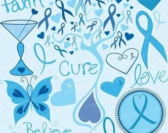 80% OFF SALE cancer clipart commercial use, vector graphics, digital clip art, digital images, prostate - CL734