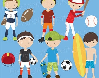 80% OFF SALE sports clipart commercial use, vector graphics, digital clip art, digital images  - CL518