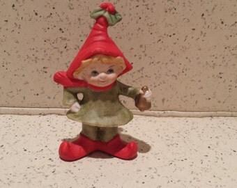 Lefton Christmas Elf Ornament