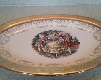 22Kt Gold Trimmed Colonial Platter