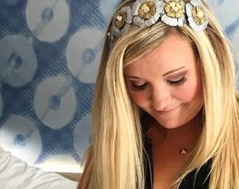 Amanda's Lobas Double Silver/Gold Floral Crown