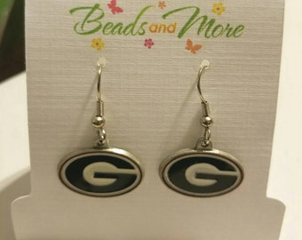 Georgia Bulldogs, University of Georgia Dangle Logo Earrings