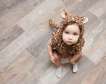 Leopard Costume, Toddlers Halloween Costume, Party Costume, For Boys or Girls, Toddler Costume