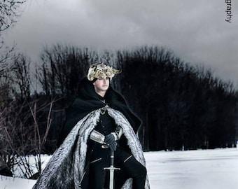 Dire Wolf, Cloak, Fur Cloak, Faux Fur, Warm Coat, Custom Cloak, Wolf Fur, Winter, Viking, Game of Thrones, Pagan, Barbarian Costume