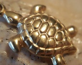 Reserved for Emily 14K Gold Sea Turtle Necklace (st - 1923)