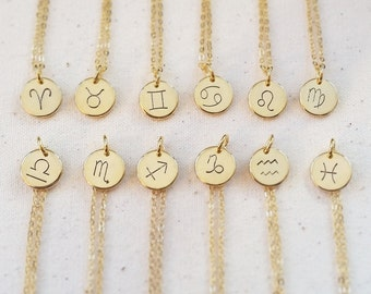 Zodiac Hand Stamped Necklace