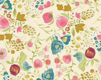 Cotton Fabric Emmy Grace Budquette Dayspring by Bari J for Art Gallery Fabrics Floral Fabric
