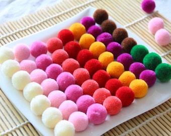 100pcs handmade party yarn pom poms, pompom,yarn balls,thread ball, kids children crafty materials, phone accessories,jewelry supplies J0339