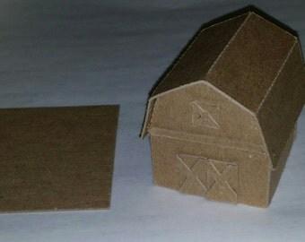 Putz Style Glitter House -Mini Barn-DIY