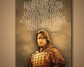 """The Last Samurai """"Inriguing"""" Quote Poster"""