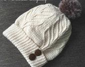 Crochet Pattern: Matterhorn Ski Slouch, Toddler, Child, Teen/Adult Small, Adult Medium/Large