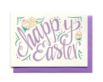 Happy Easter Card - Purple - Hennel Paper Co.