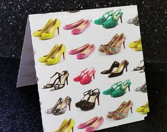 high heel shoes invitation card thank you notes package of 10