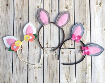 Bunny ear headband, easter, bunny ears, dress up, animal dress up, rabbit ears