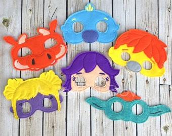 Wally and friends inspired dress up and party masks. Wallykazam, wally kazam birthday, wallykazam party, wallykazam gifts